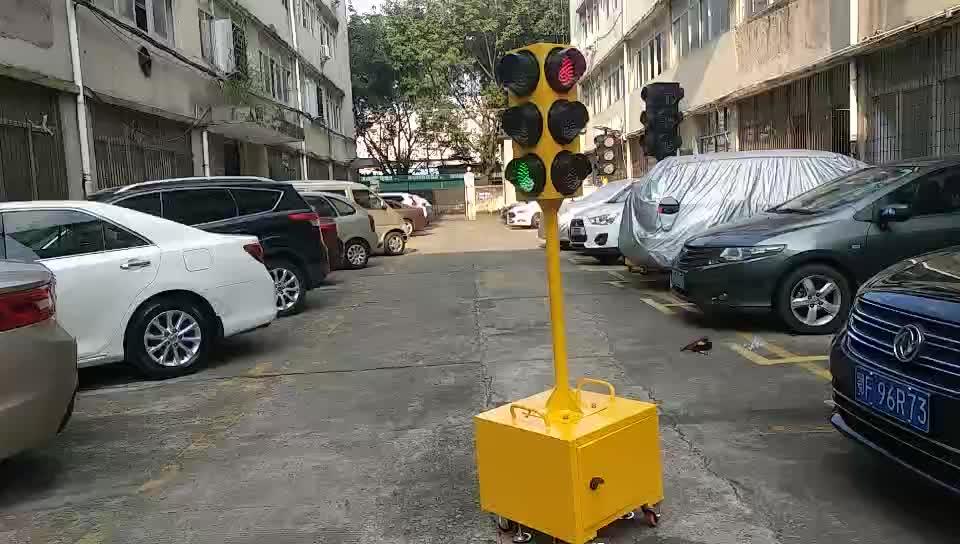 New style led portable solar panel 125mm mobile traffic signal light