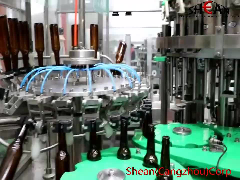 3-in-1 Washing Filling Capping Machine For 200ml - 1000ml Bottle Beer