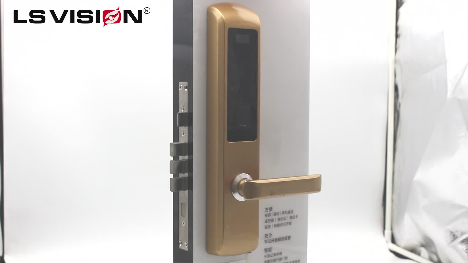LSVISION Home Interior Door Security Lock System Electronic Biometric Fingerprint Smart DoorLock