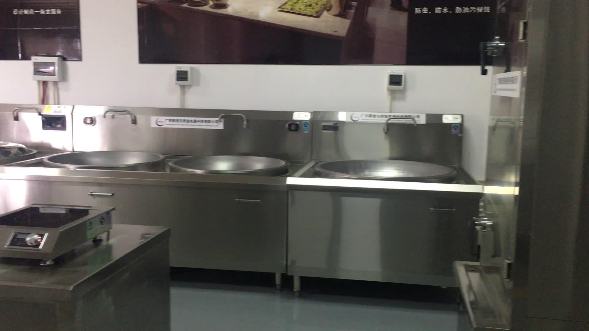 Single Kepala Restoran Hotel Dapur Stainless Steel Komersial Wok 3.5KW 5KW Kompor Induksi