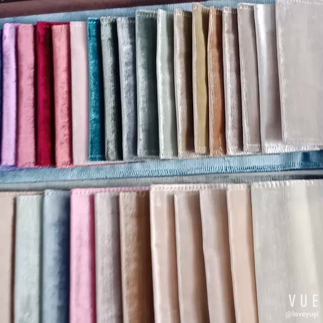Wholesale High Quality Waterproof Woven Plain Velvet Furniture Fabric For Home Textile