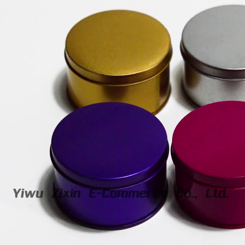 Custom Colored Tin Cans High Quality Round Tin Box For Lip Balm