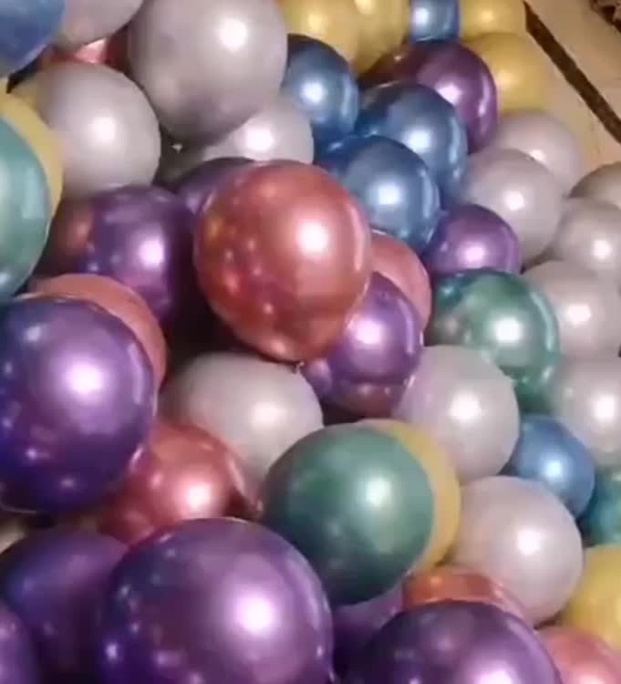 wholesale  in China Round 12-inch balloons 2.8 grams metallic balloons perfectly round balloons
