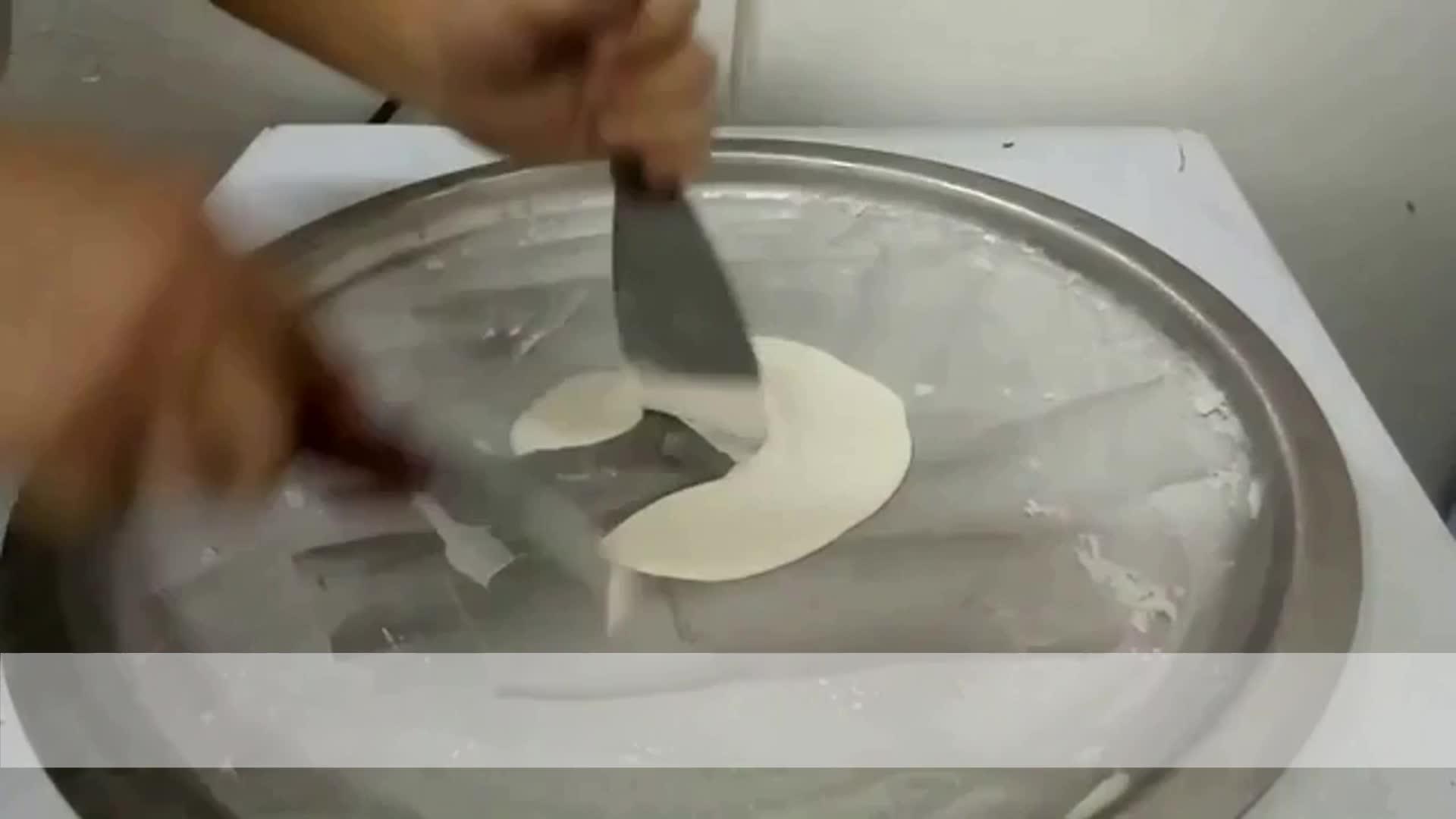 fried ice cream roll machine / square pan fry ice cream machine / frozen roll single round pan fried ice cream