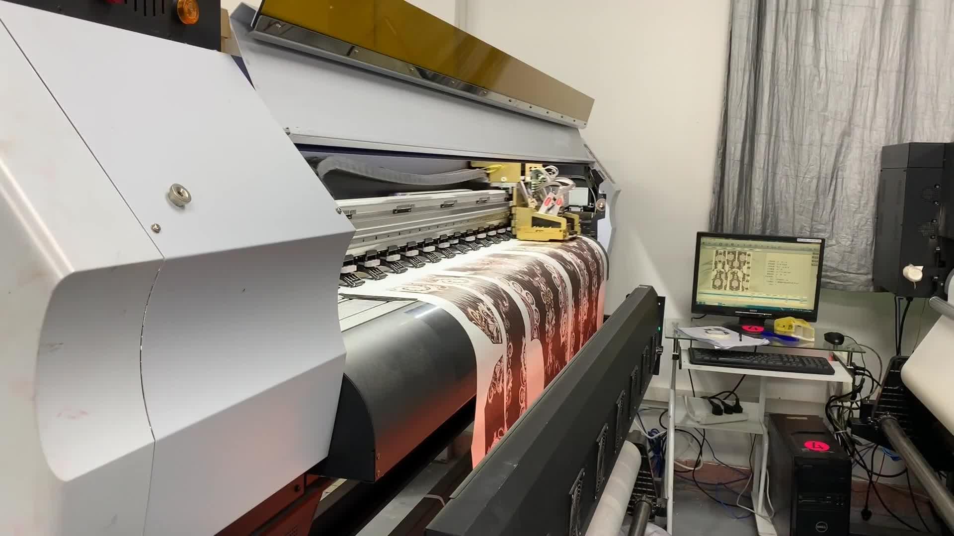 1.8 m digitale dye dublimation t-shirt drukmachine voor textiel roller afdrukken