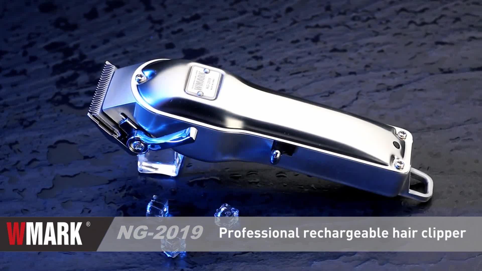 WMARK नई नाई सभी-धातु डिजाइन उच्च गुणवत्ता एलईडी प्रदर्शन बिजली के बाल क्लिपर