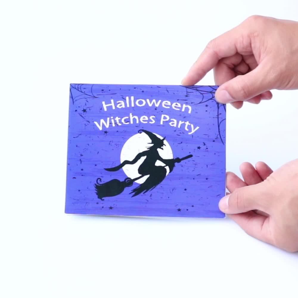 أفضل بيع اليدوية هالوين المنبثقة بطاقة المعايدة