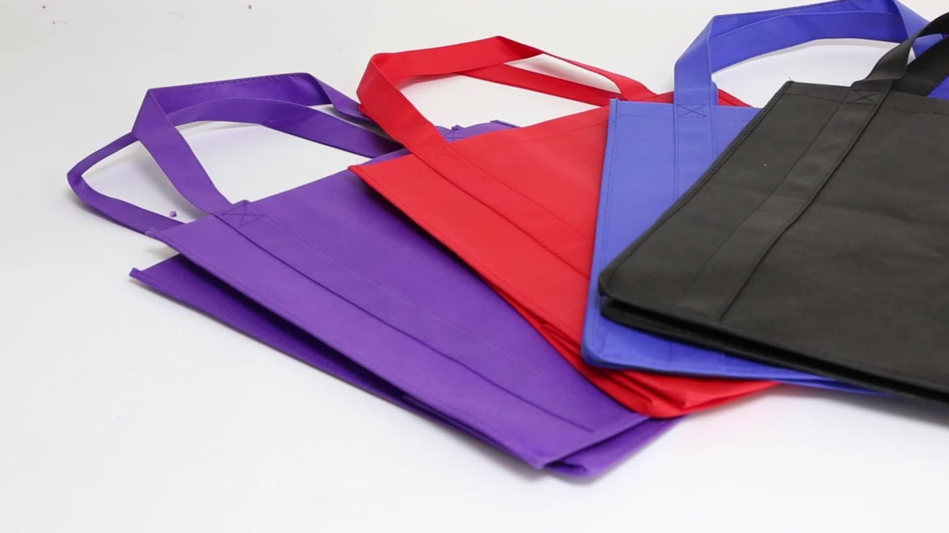 Yüksek kalite fabrika fiyat promosyon dikiş alışveriş torbaları olmayan dokuma kumaş taşıma çantası logolar ile özel baskı