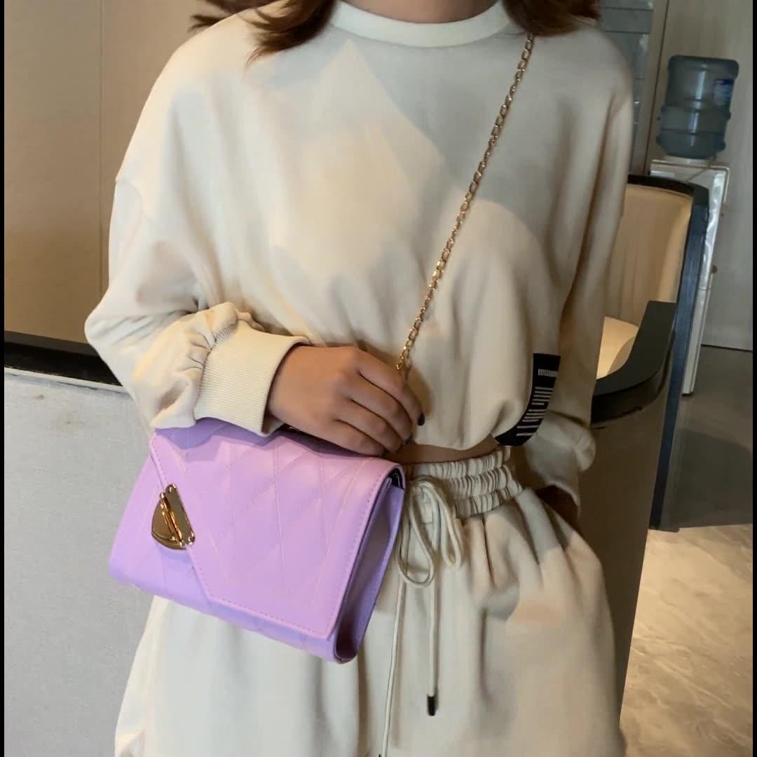 फैशन चैनल हैंडबैग महिलाओं fasion नवीनतम रेट्रो दूत बॉक्स वर्ग नरम चमड़े चित्रित छोटे हाथ बैग