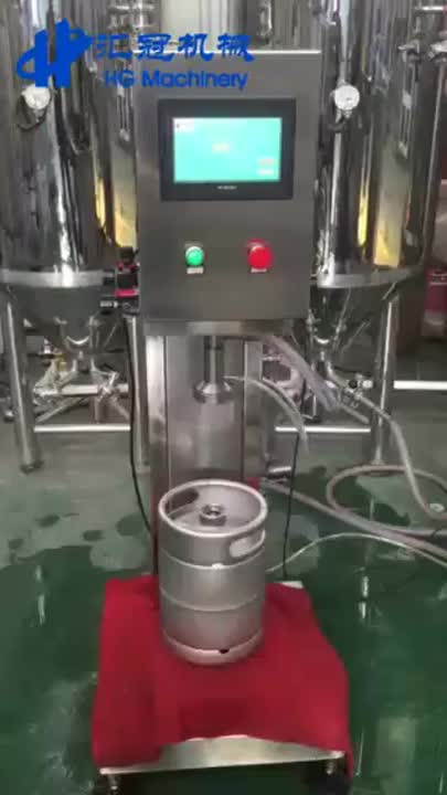 Semi Automatic Beer Keg Filling Machine Special Designed For Beer Kegs