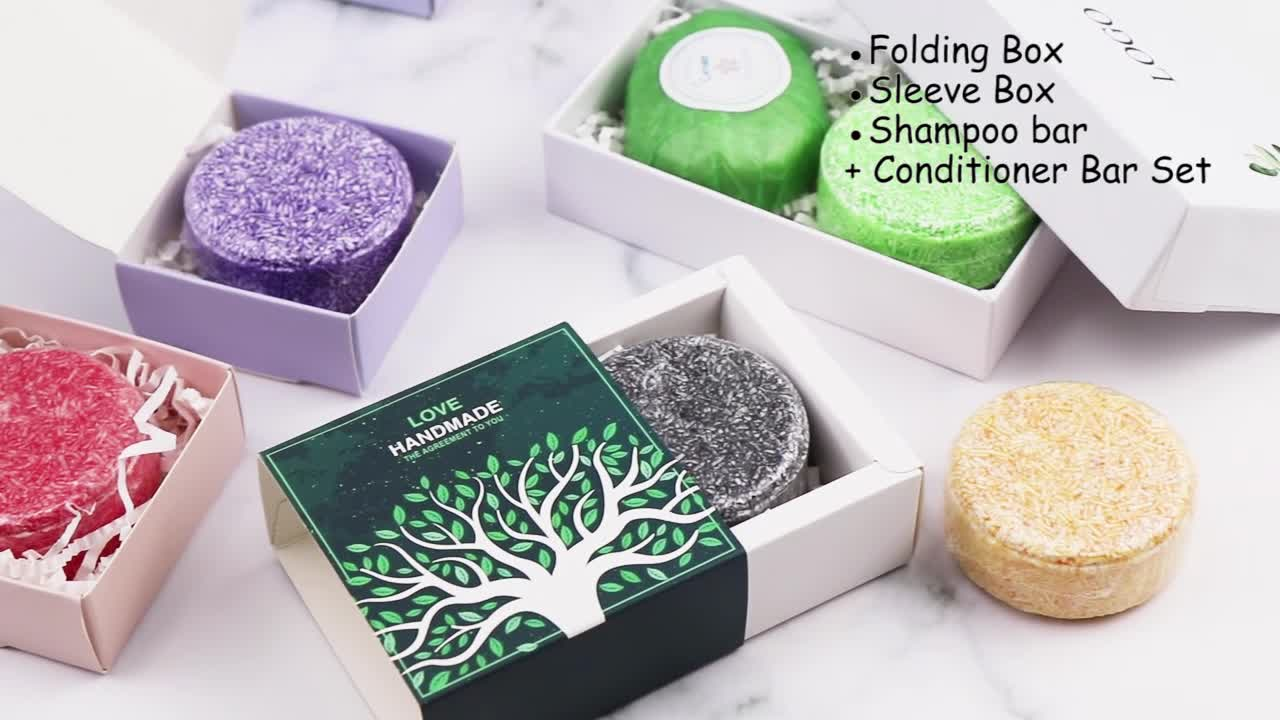 OEM Private Label Natural Mild Argan Oil Hair Care Organic Hair Dry Shampoo Soap and Conditioner Bar