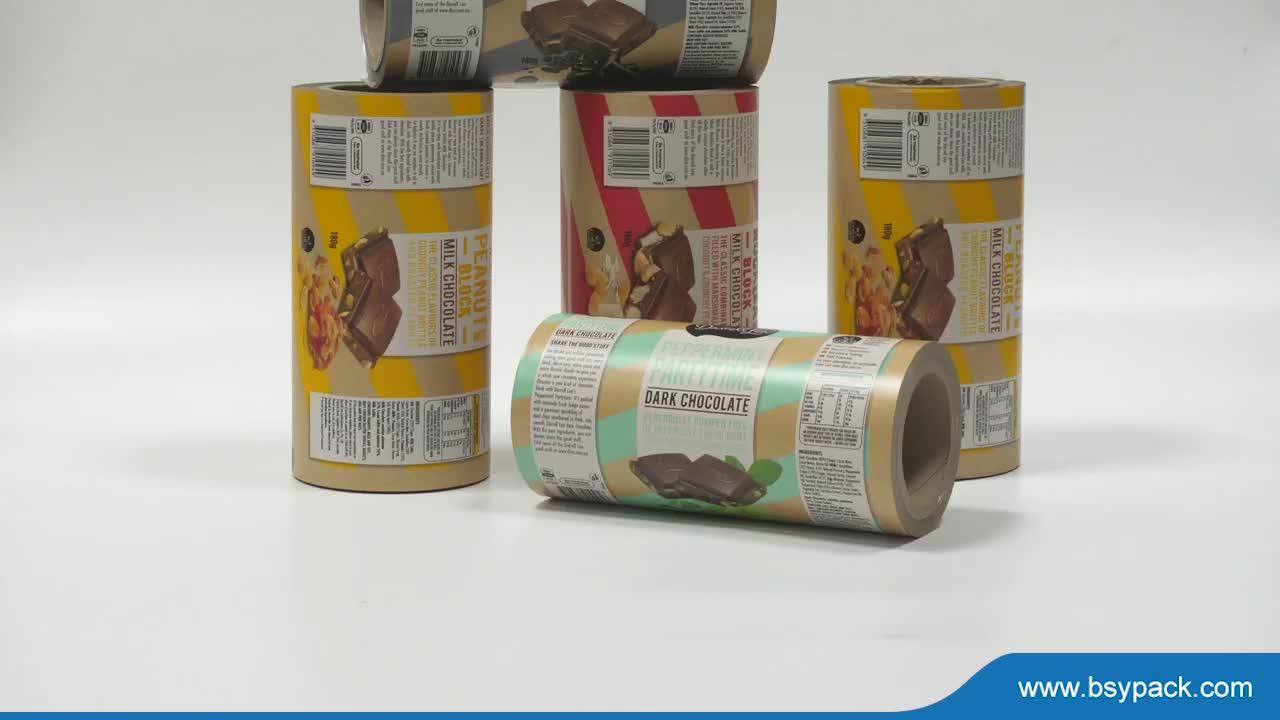 Cấp thực phẩm Cuộn Phim Nhựa/nhựa bao bì Thực Phẩm nhiều lớp phim cuộn cho snack