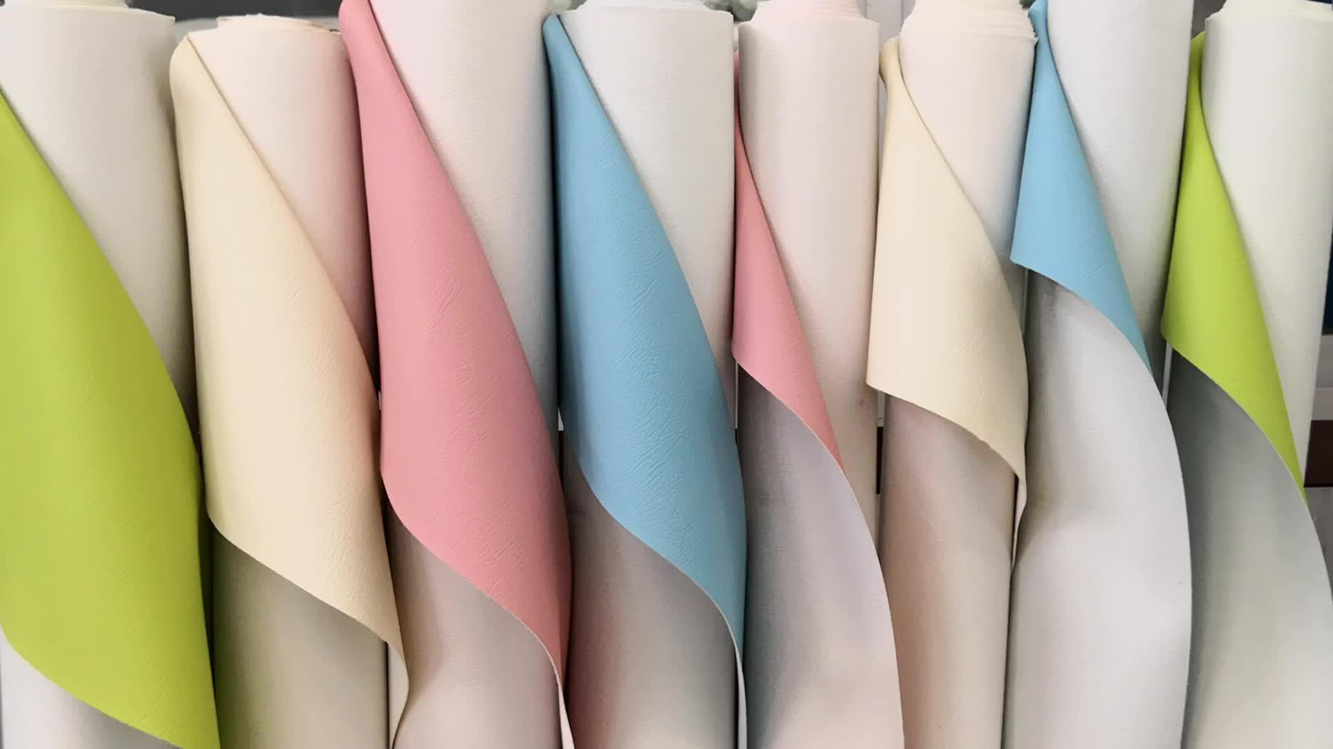 ขายร้อนพิมพ์นูน PVC ไวนิลสังเคราะห์หนังผ้าสำหรับที่นั่งรถ, โซฟา, 1.0 มม. ประดิษฐ์ leatheroid made in China