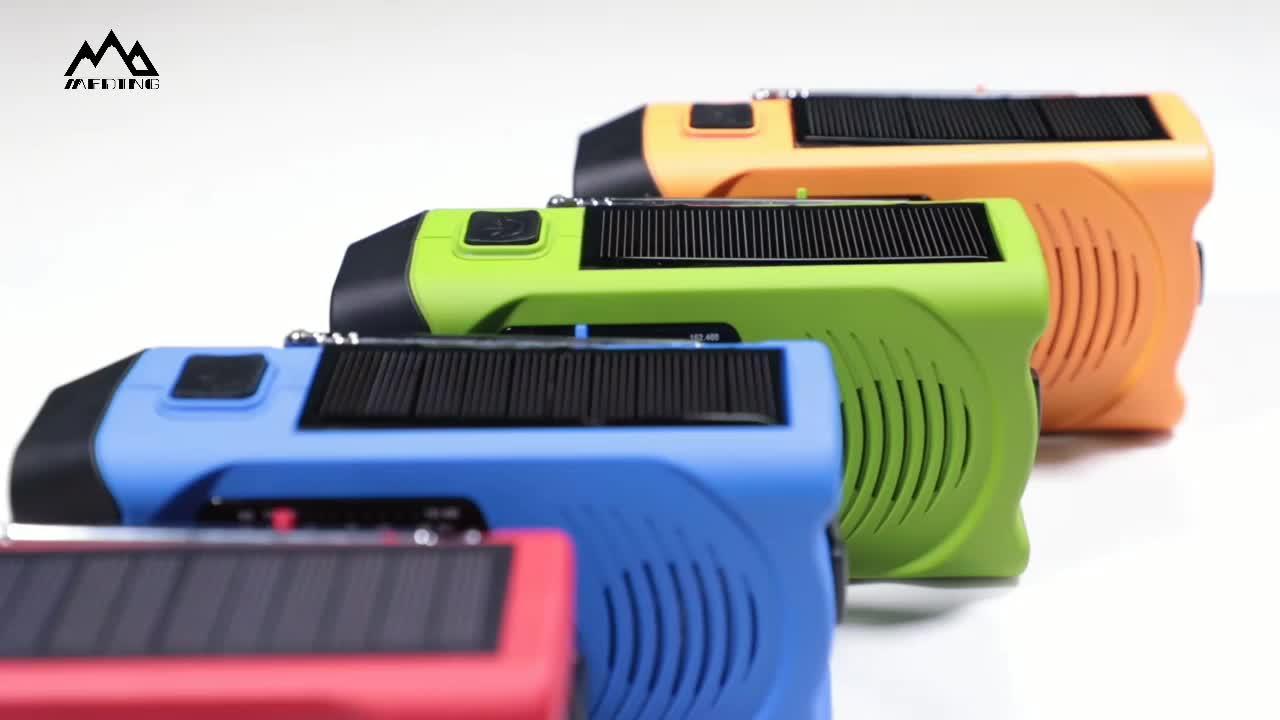 Emergency solar hand crank led zaklamp noaa am fm weer draagbare radio