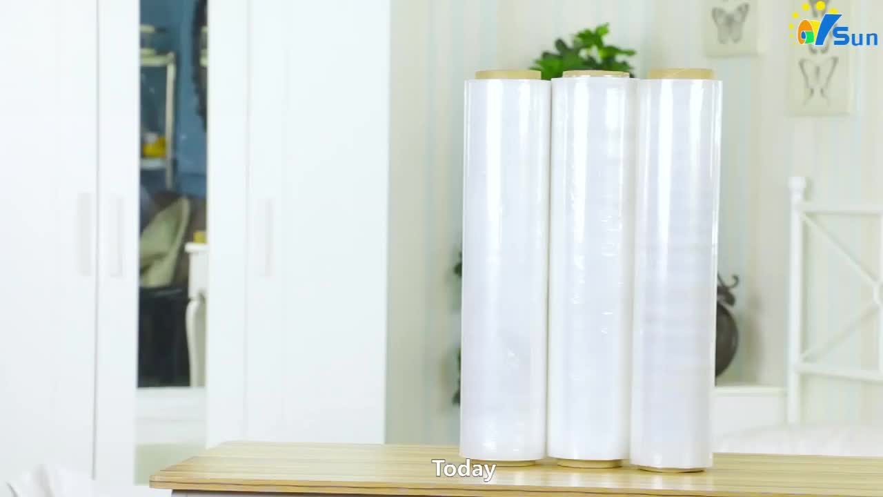 Experienced Factory Manual Packaging Use LDPE Shrink Wrap Stretch Film