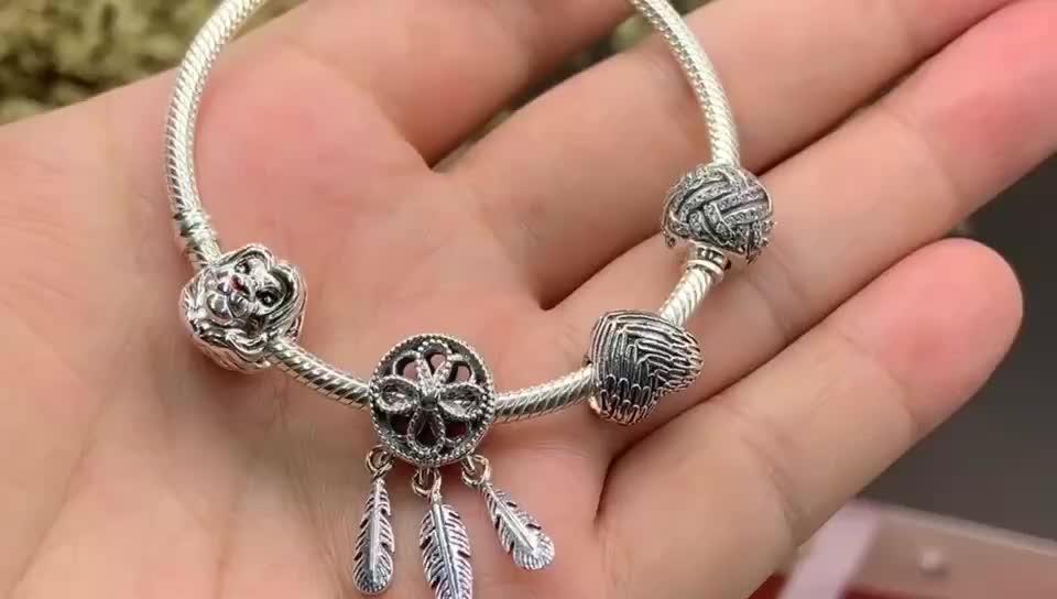 S925 sterling zilveren kralen armband creatieve meisjes armband diy geschikt voor armband fabriek direct