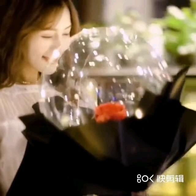 2020 สินค้าใหม่ขายร้อน LED Bobo บอลลูนรอบ Rose Rose Bobo บอลลูนสำหรับงานแต่งงานของขวัญวันวาเลนไทน์