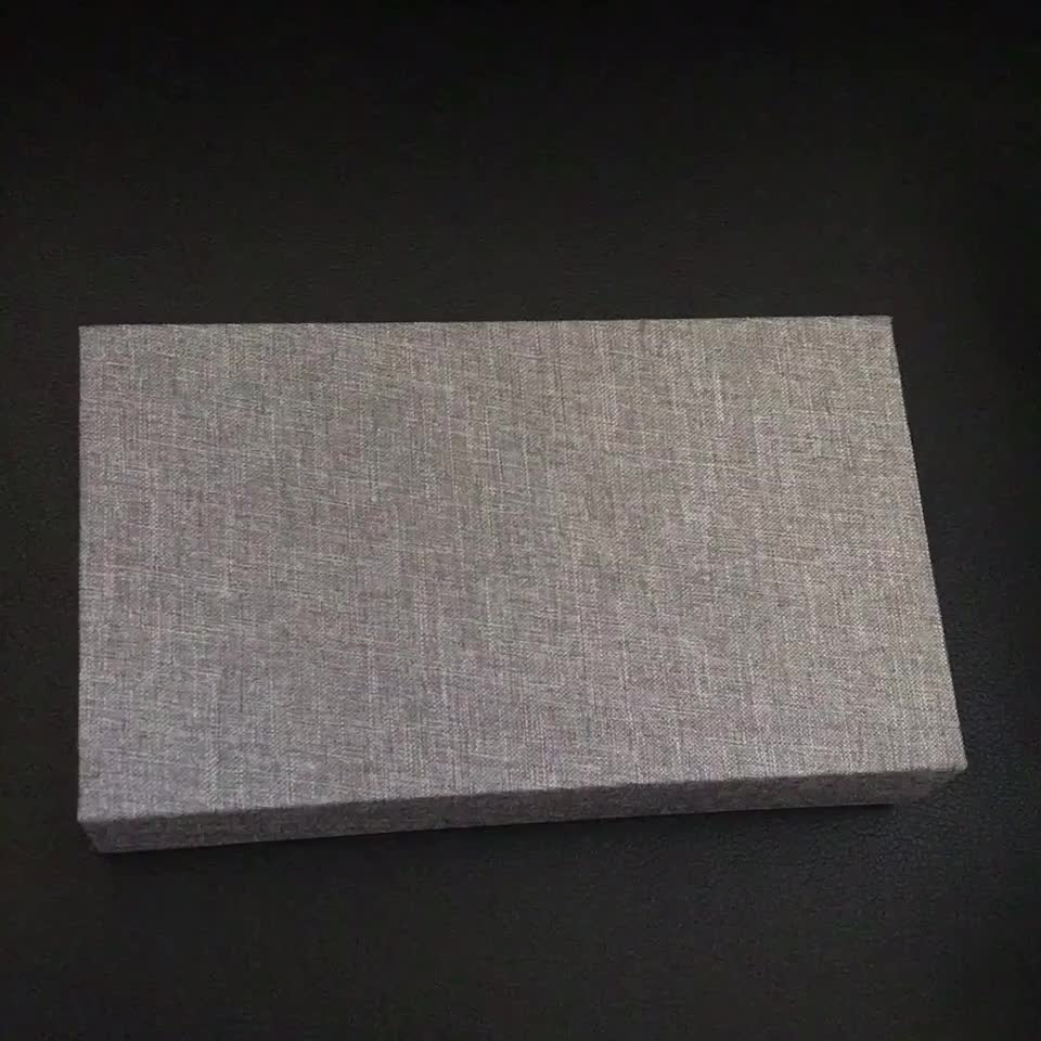 Grey brown Cream color proof Small Gift Photographers packaging 4*6 5*7 Print Holder USB and photo linen box