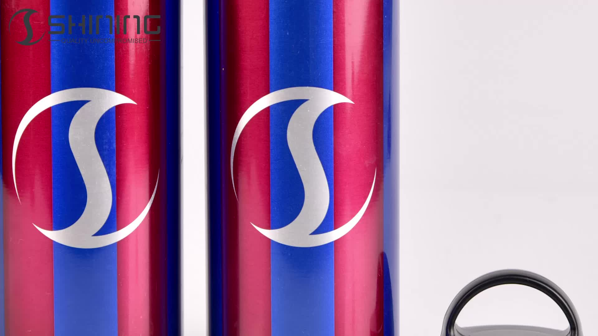 400 600ml Logo Printing Pull Along Shopping Trolley Christmas Promotional Sport 400ml Aluminum Water Sublimation Bottle Sports