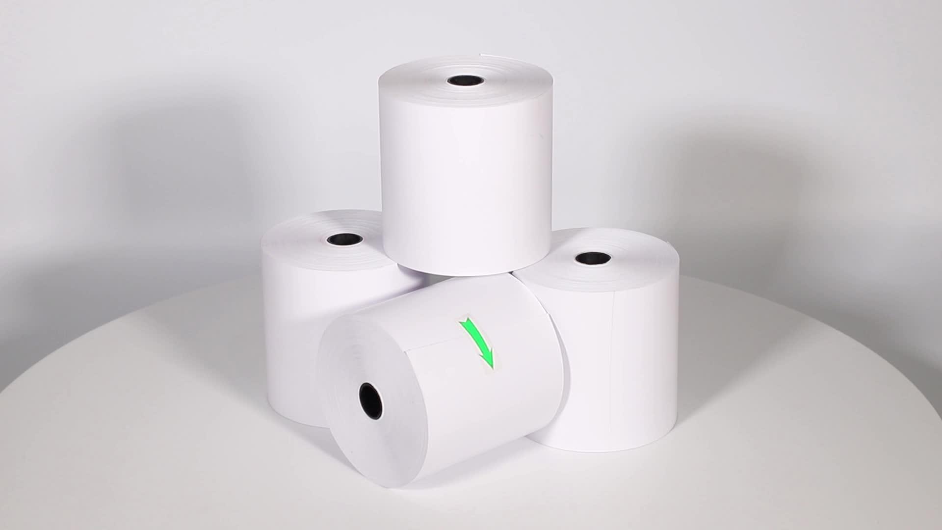 Termal kağıt rulosu iş 80x80mm 70gsm endonezya malezya yazarkasa tedarikçileri 3 1/8x230