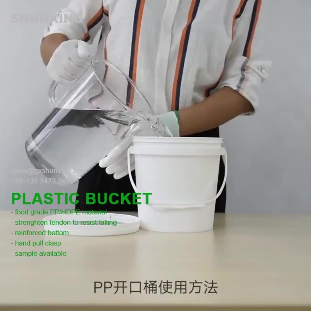 20L Plastic Bucket Top Grade Packing Barrel Pail 20 Liter Cheap Paint Plastic Bucket
