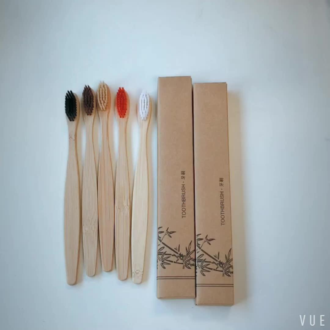 Custom logo wholesale hotel eco friendly natural bamboo toothbrush