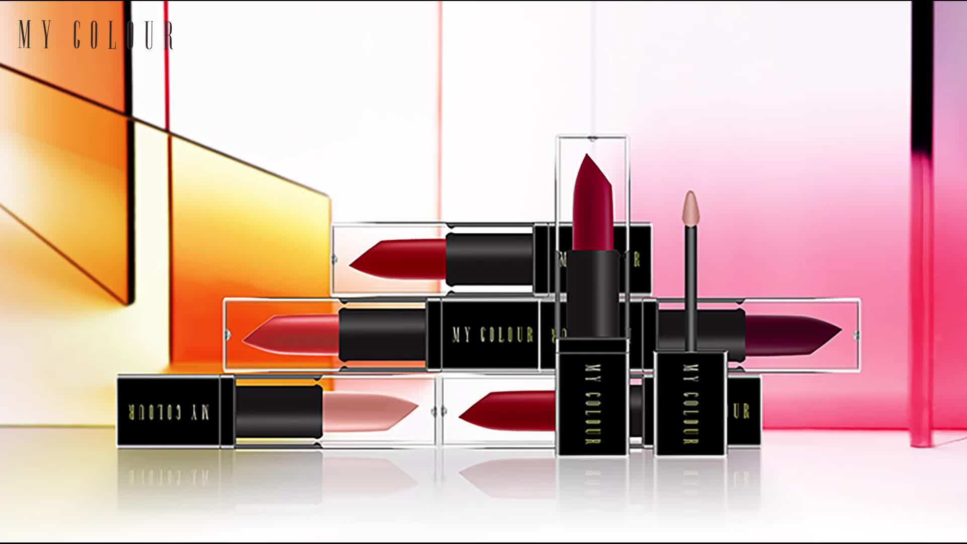 Kostenlose Probe Custom Design wasserdicht langlebig vegan nackt Eigenmarke Make-up matt flüssigen Lippenstift