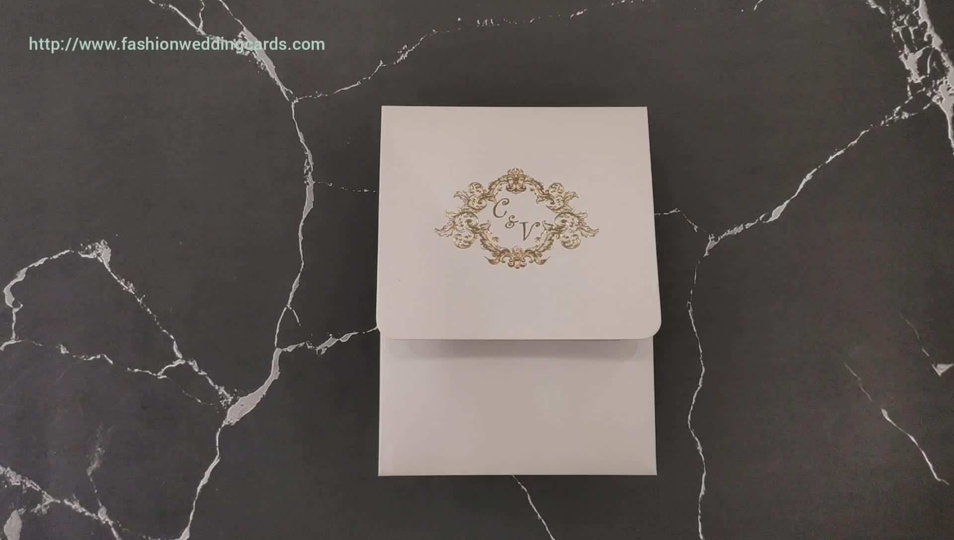 2019 neueste Design Transparent Doc Acryl Hochzeit Einladung Karte Custom Druck für Hand Made Umschlag