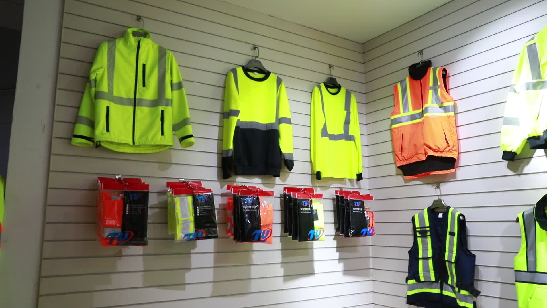 High Visibility Custom Green Work Clothes With Pockets
