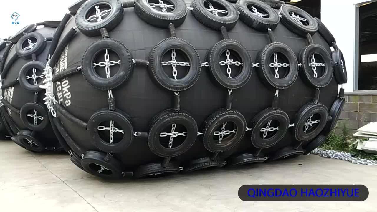 Yokohama tipo pneumático defensas de borracha para barcos