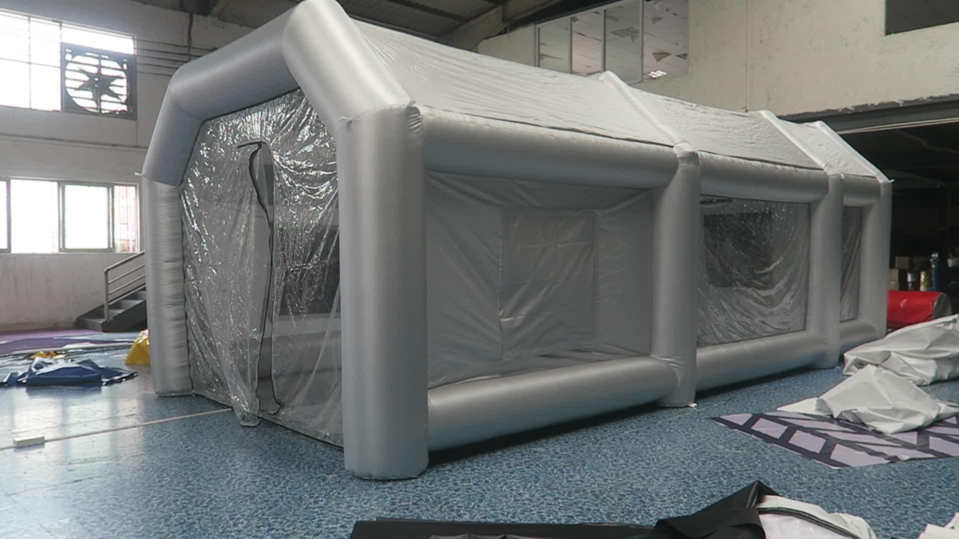 Gratis Lucht Schip Opblaasbare Spuitcabine Opblaasbare Verf Booth Opblaasbare Auto Schilderij Booth Voor Verkoop