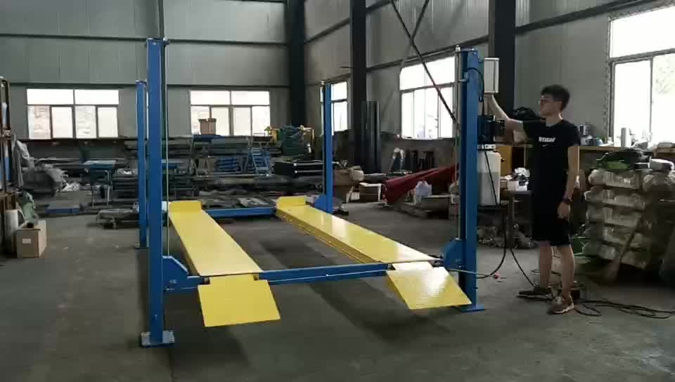 Auto Electrical Hydraulic Price used 4 post car lift for sale JUNHV JH-4P3700