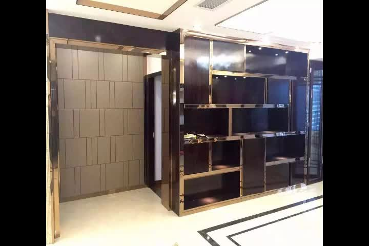 Decoration bar splicing cabinet, stainless steel custom decorative frame.