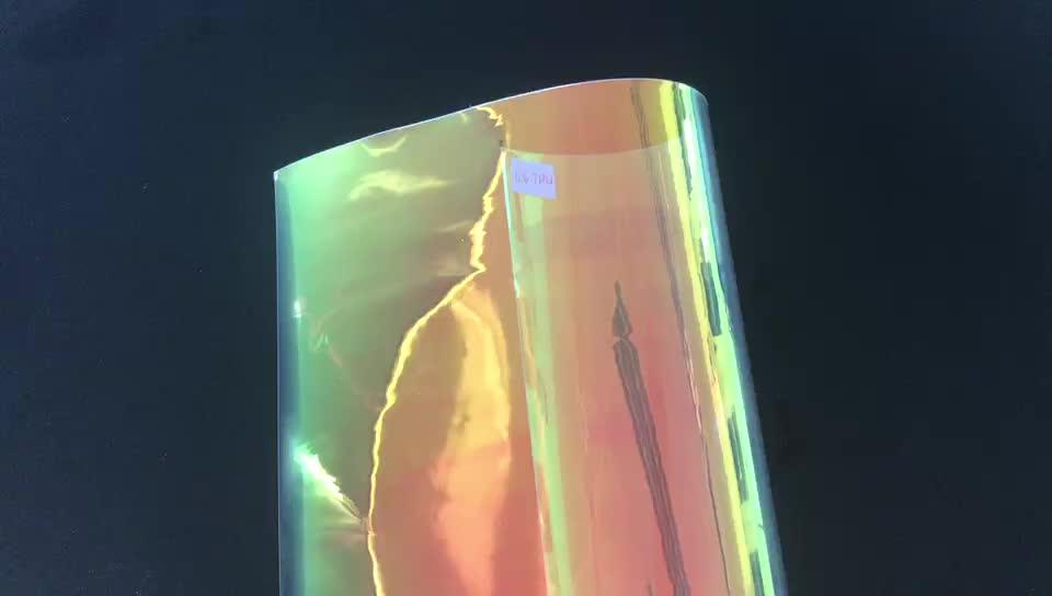 Holographische Kunststofffolie RG 0,4 mm PVC Dichroic irisierende Regenbogentönung