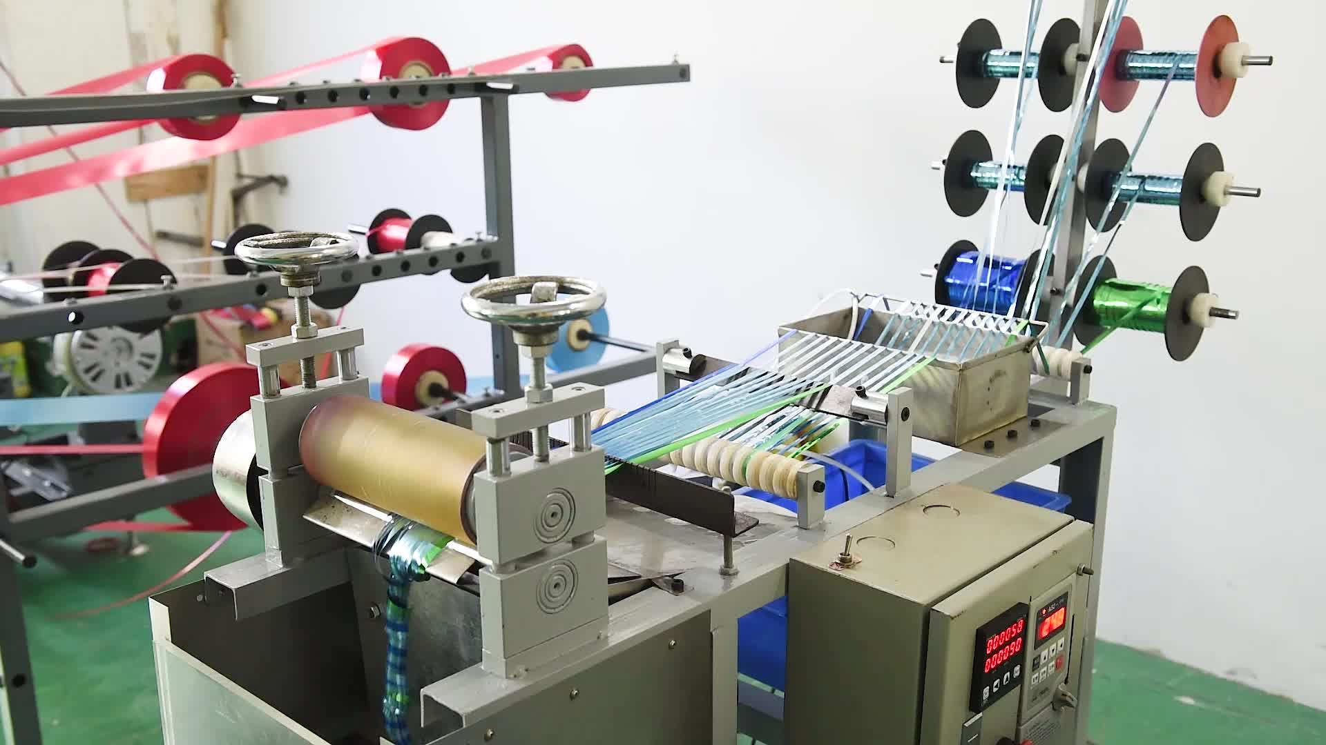 電子ギフトラップアクセサリーカーリーリボン弓製造機