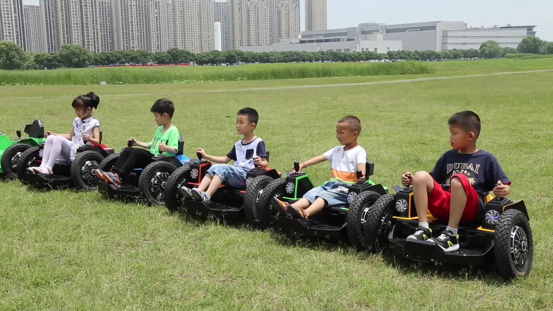 Playground Kids Battery Bumper Grass Car For Sale FLLC-10001