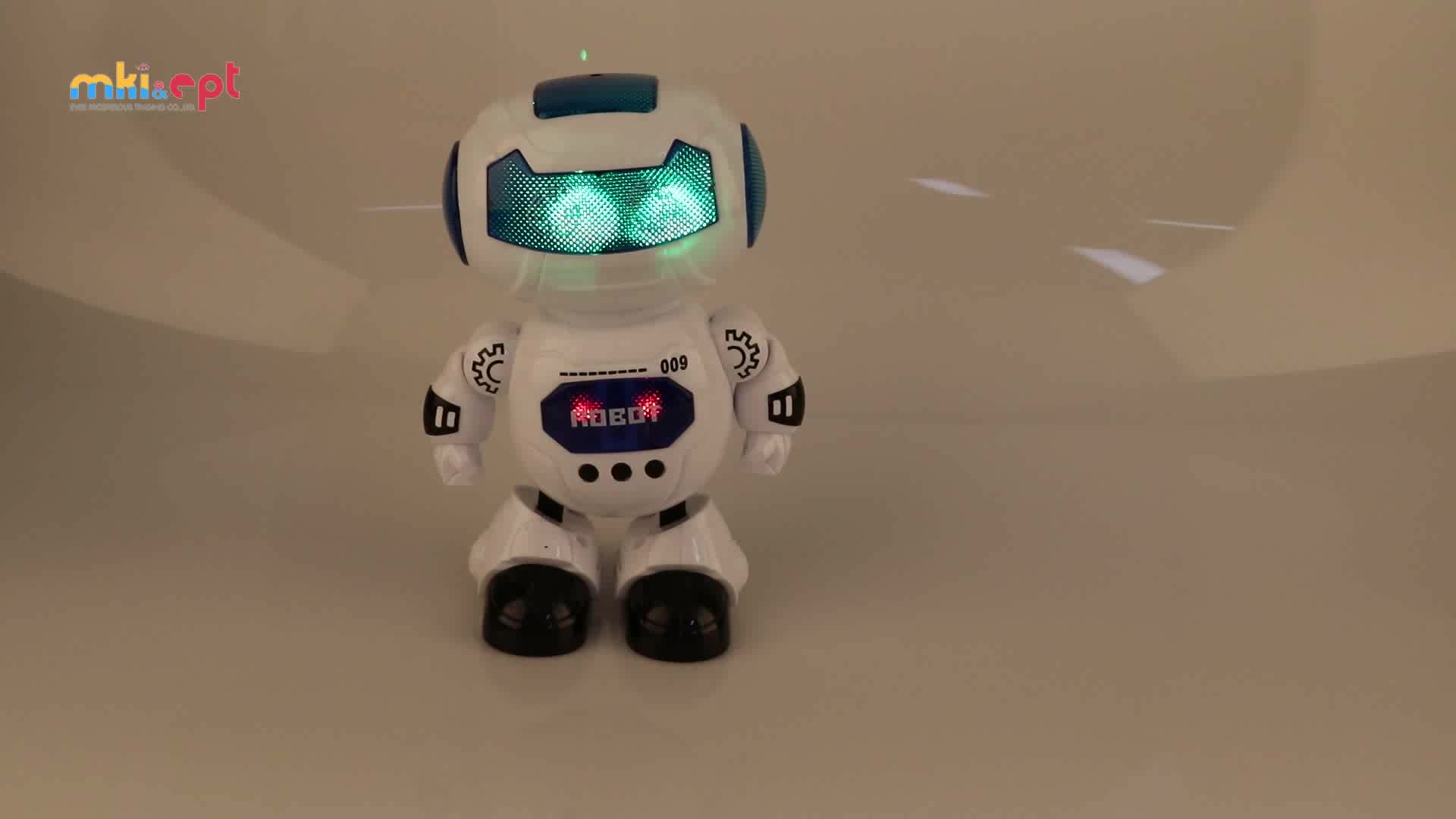 United Kingdom Market Popular Kids Smart Dancing Robot Toys With Light And Music