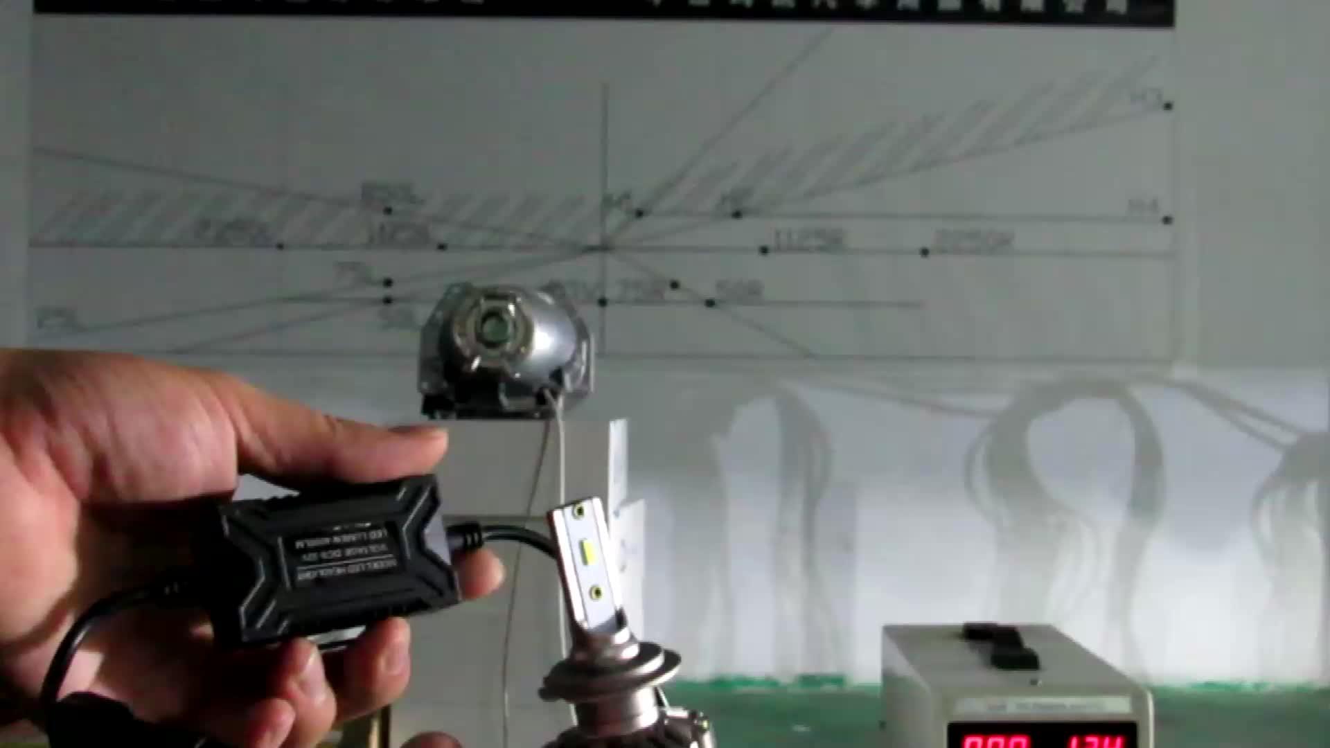 신제품 자동 조명 시스템 12 V 차량용 전조등 H4 40 W 4800LM 냉각 팬 led 조명