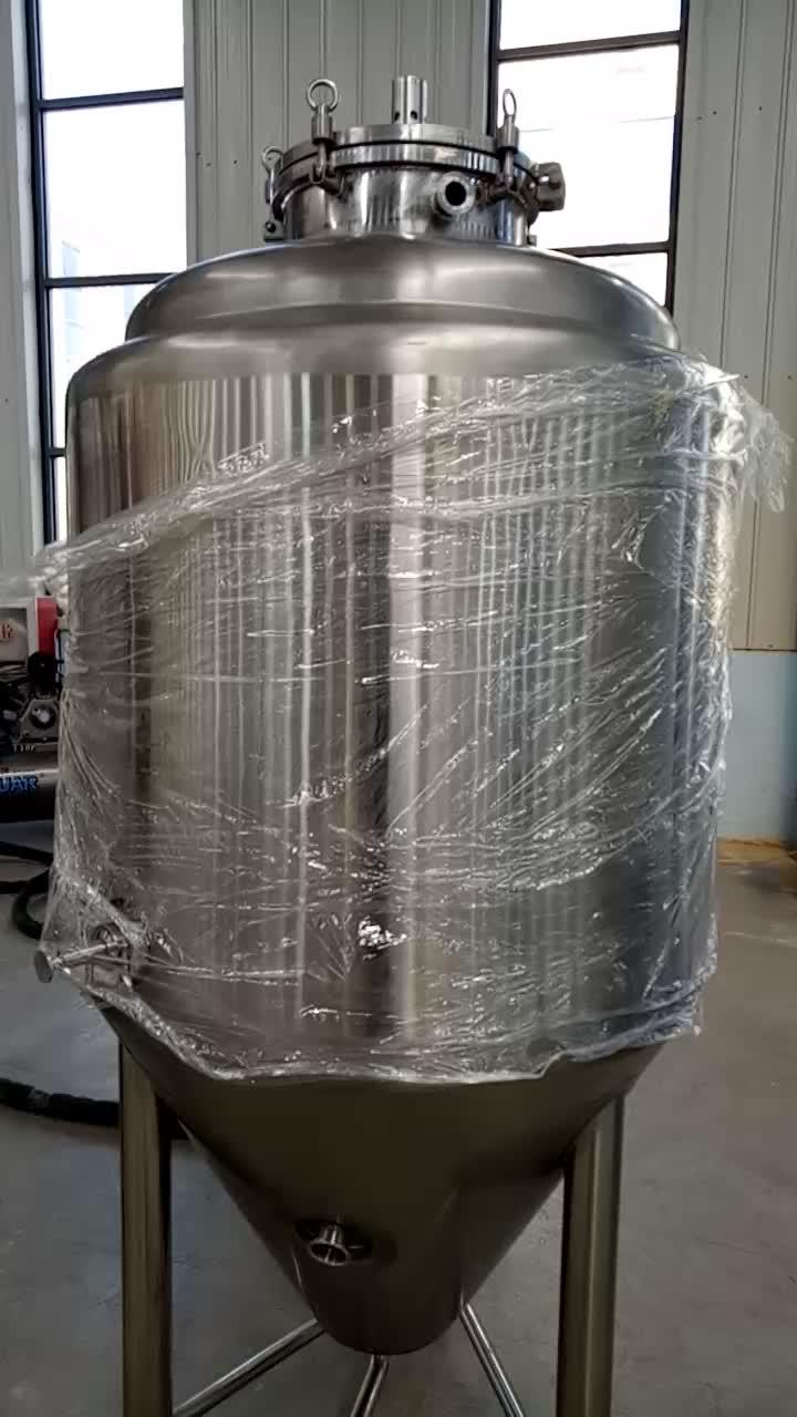 स्टेनलेस स्टील किण्वन उपकरण 100 लीटर करने के लिए बिक्री के लिए 20000 लीटर शंक्वाकार तख्ताबंदीवाला बियर किण्वक