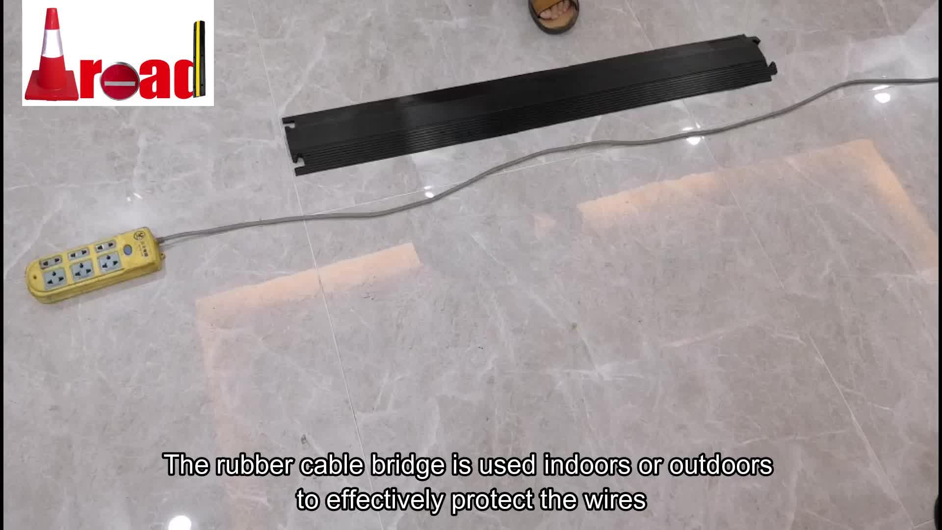 Australian Standard borracha Ligeiros cabo rampa cabo protetor chão canal