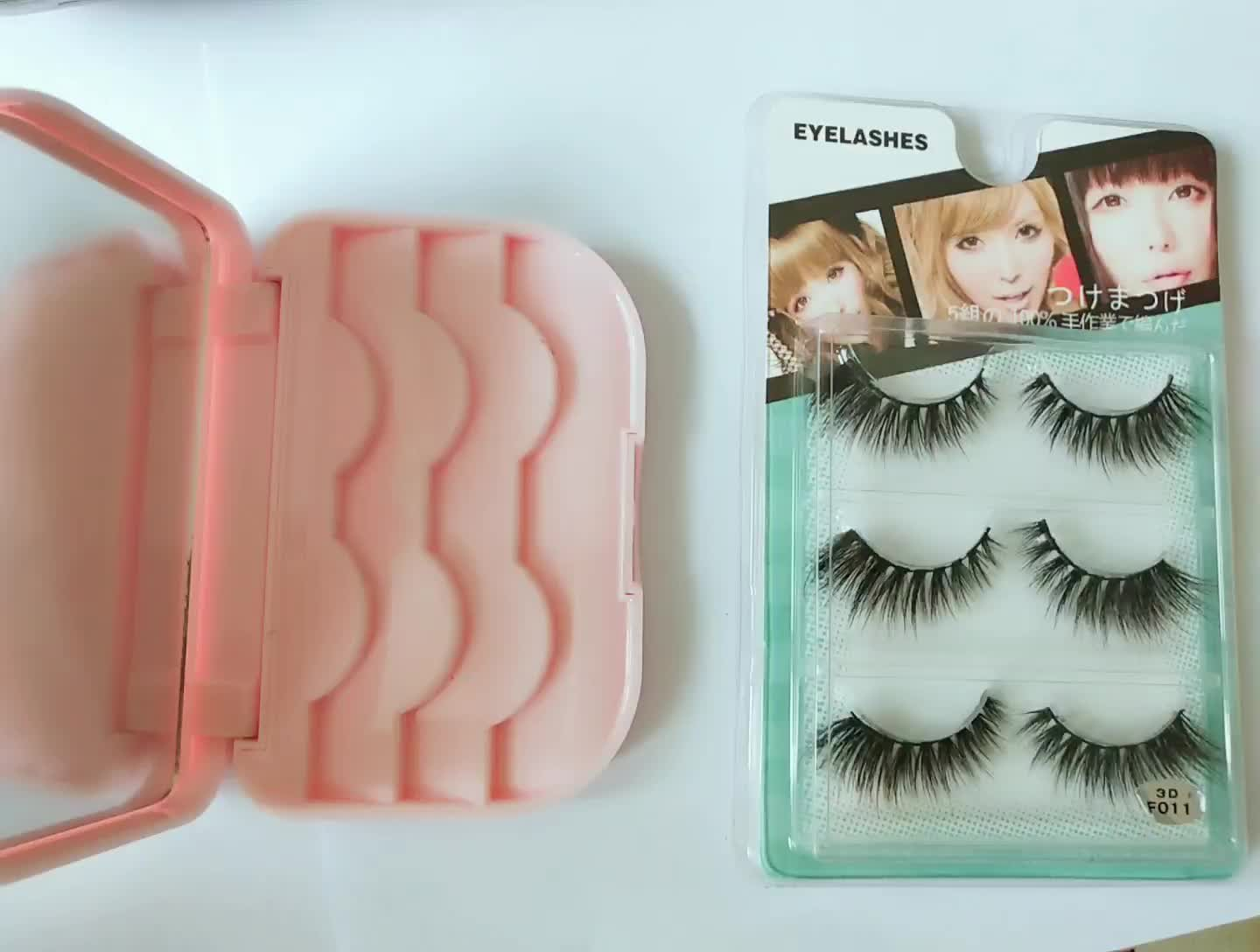 Invisible Band Natural Looking Cheap Price Synthetic 3D Mink Lashes 6D Series
