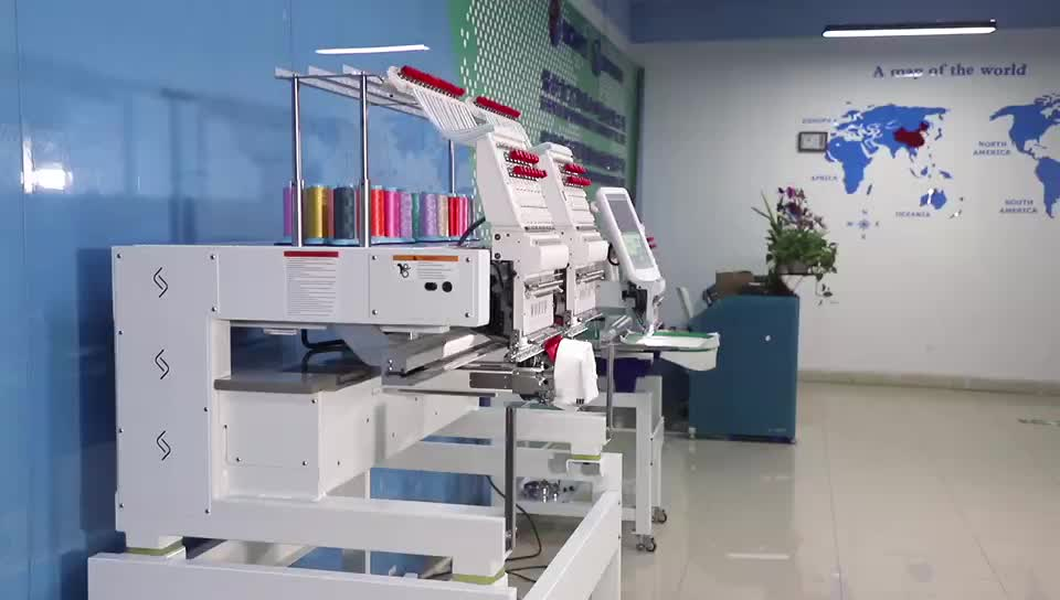 wonyo high quilty 2 heads Automatic Cap Computerized Sewing Embroidery Machine