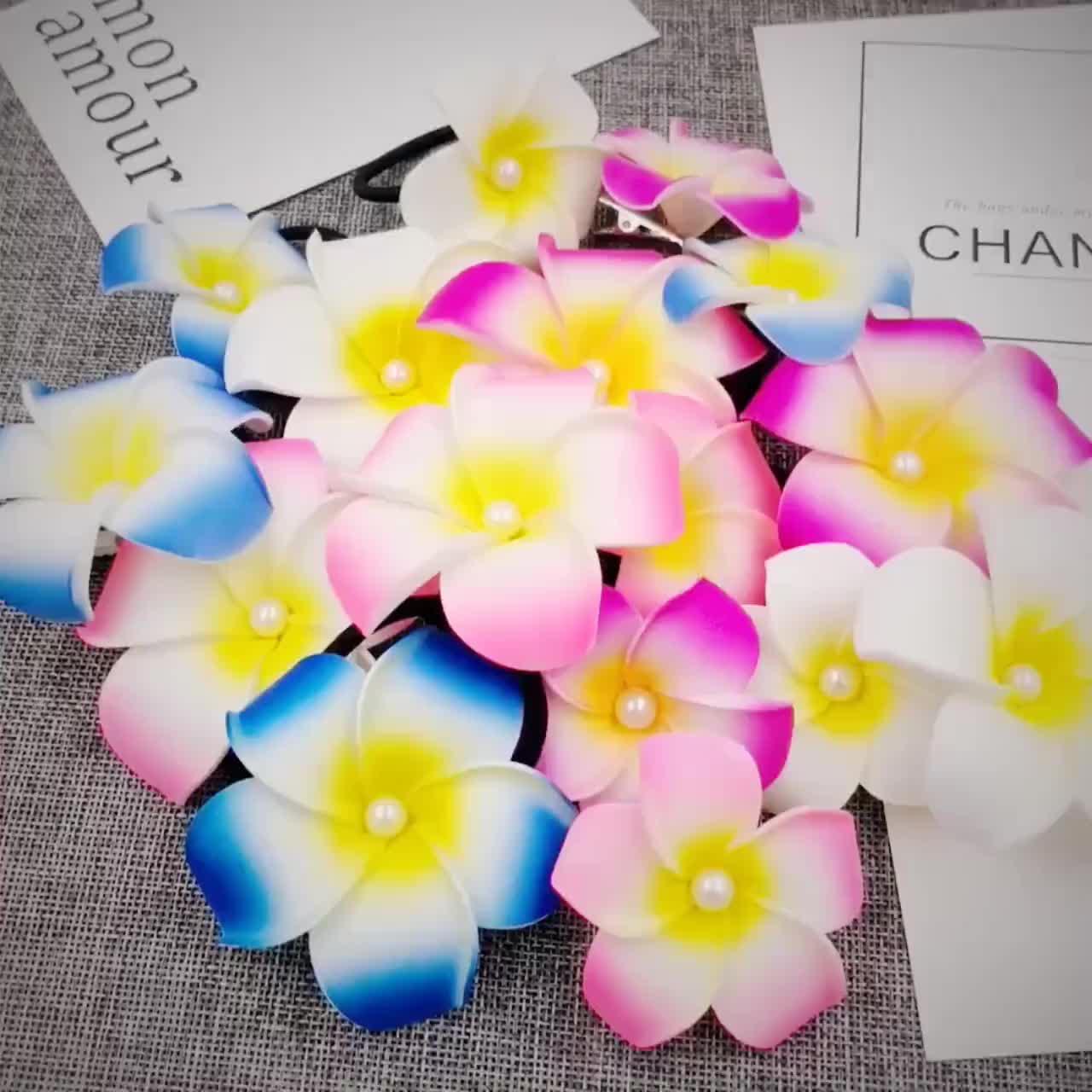 cheap  soft silk flower elastic kids headband