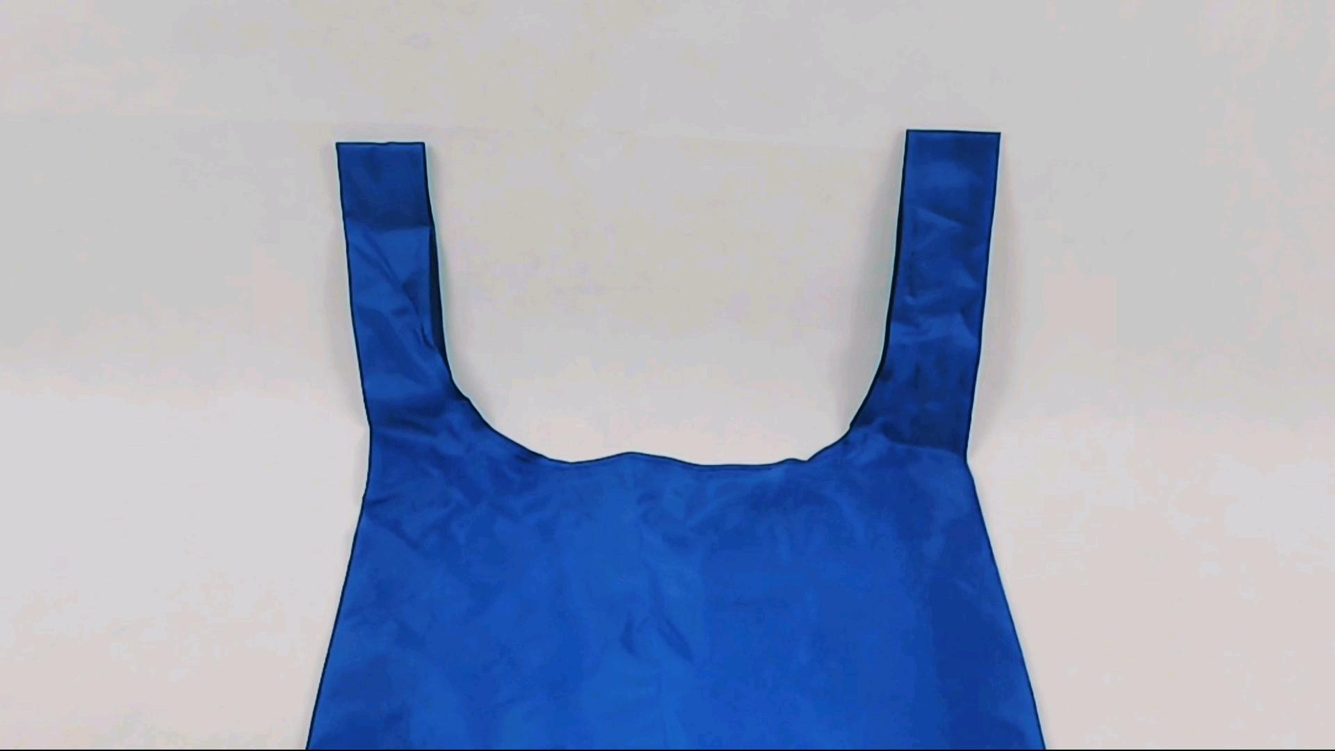 थोक Ripstop भारी शुल्क नायलॉन Foldable पुन: प्रयोज्य किराने की खरीदारी बैग