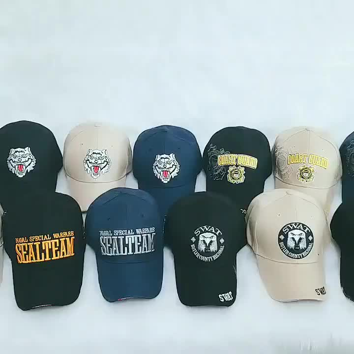OEM Military Baseball Caps With Embroidery Army Hat