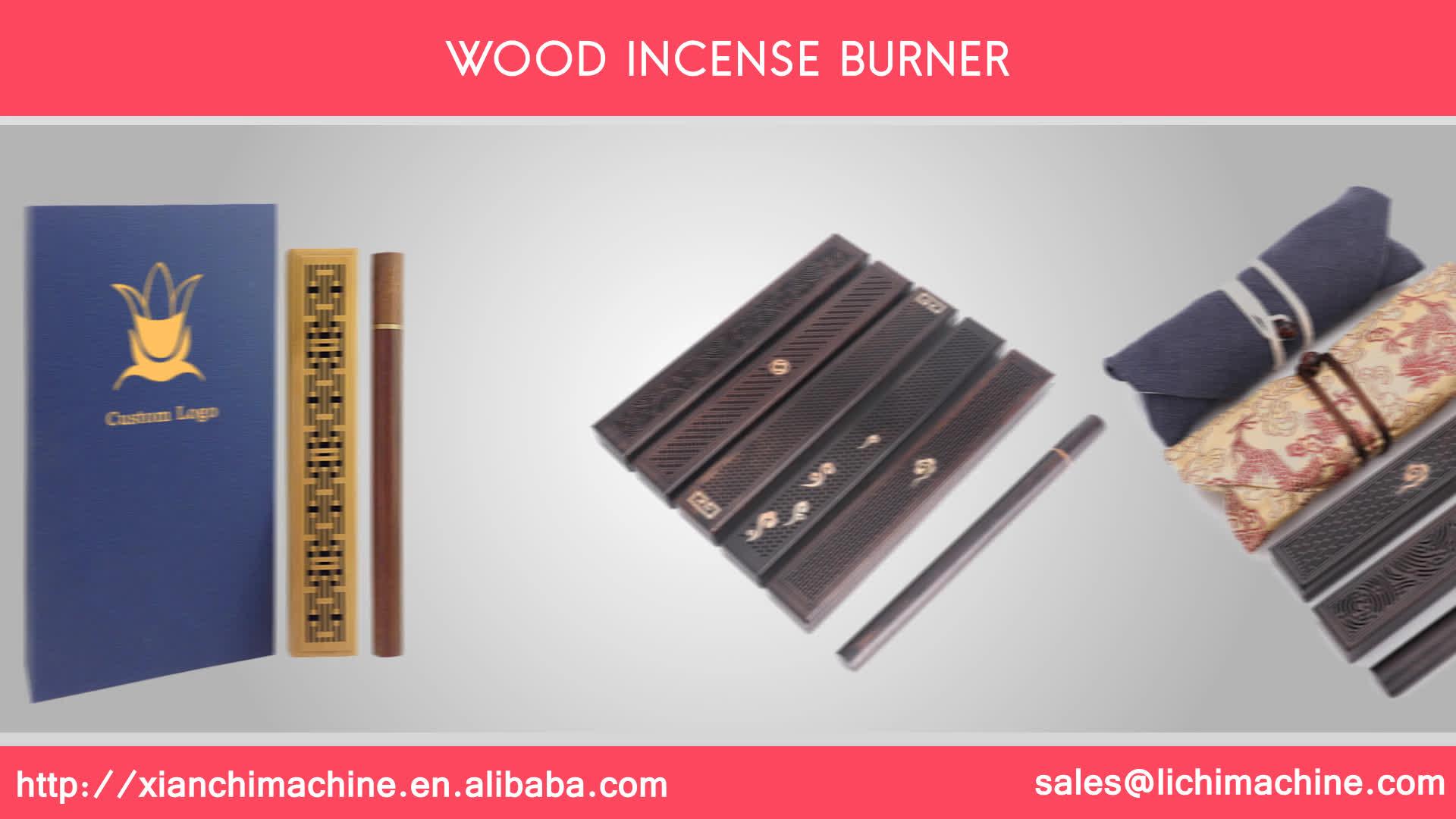 Anpassbare verpackung bambus Weihrauch brenner