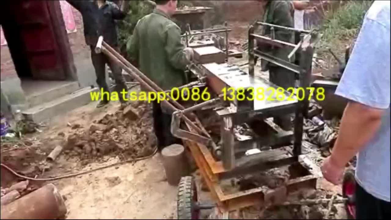 China Kleine Rode Aarde Mud Bodem Baksteen Making Machine Voor Verkoop