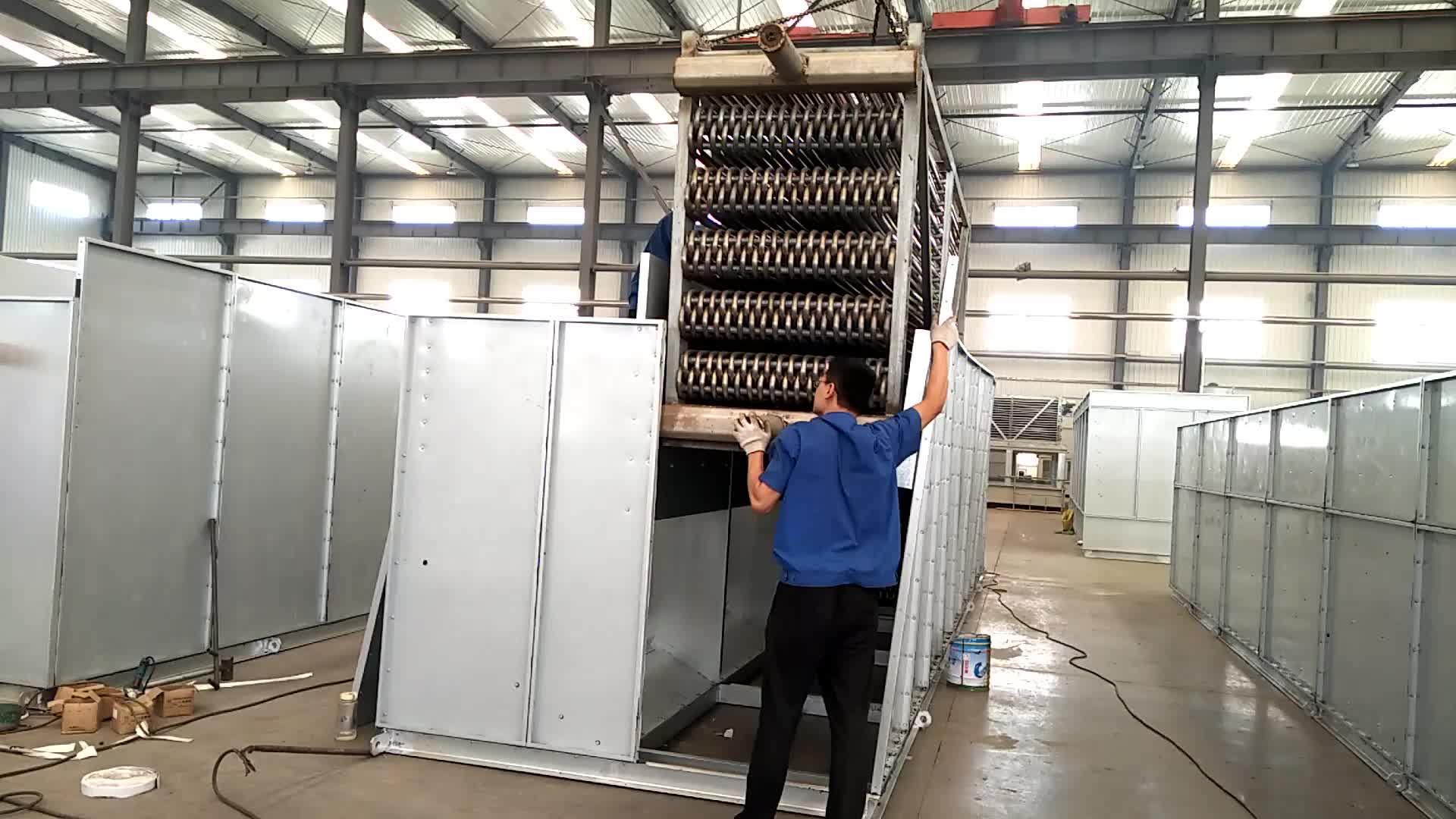 CTI Bersertifikat Pendingin NH3 Air Cooled Amonia Kondensor untuk Amonia Freezer Dairies