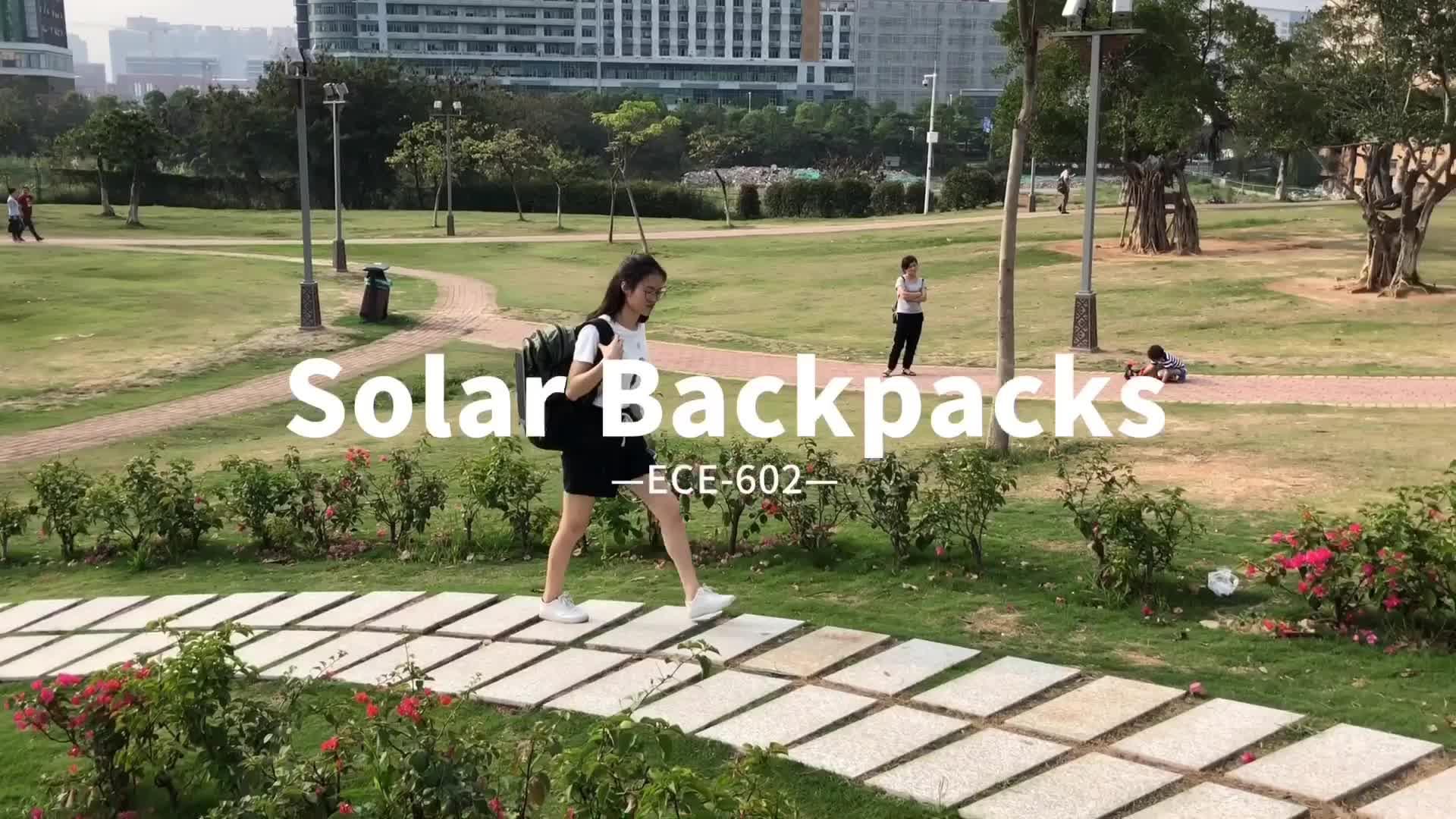 Al aire libre 35L mochila Solar bolsa de cargador extraíble de 6,5 W Panel Solar mochila para los teléfonos móviles/dispositivos de 5V banco de la energía