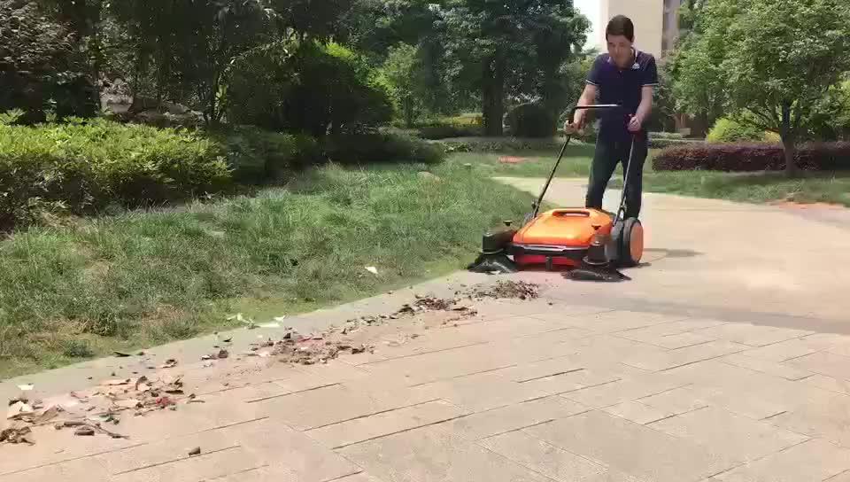 Manual Outdoor Road Garden Push Sweeper